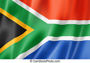South African flag - South Africa flag, three dimensional...