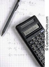 Pen and Calculater - Pen and caculater on math exercises...