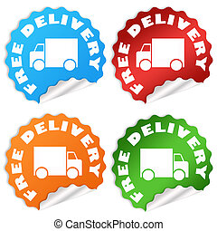 Free delivery icons set