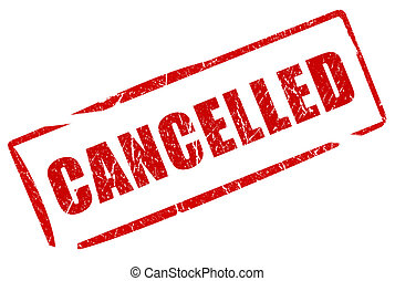 Cancelled stamp isolated on white