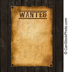Vintage wanted poster - Old Western Wanted Poster Sign