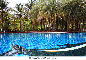 Swimming pool in Thailand.