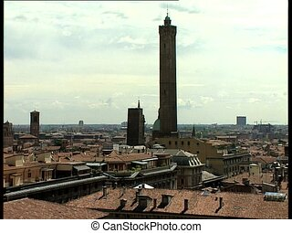 BOLOGNA cityscape with the 2 towers - Cityscape of the...