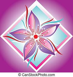 decorativo, Quadro, flor
