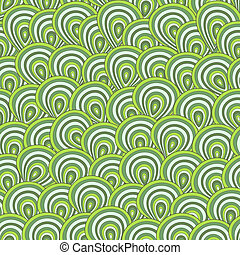 Seamless vector peacock feather pattern in green colors