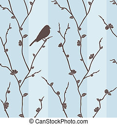 Vector seamless pattern with bird o - Beautiful vector...