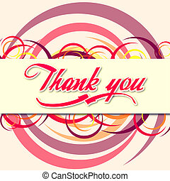 Thank you illustration of text and colorful rings