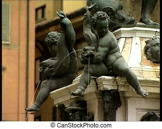 BOLOGNA neptune fountain detail - The Neptune Fountain in...