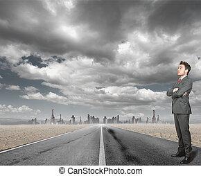 Businessman hopeful for the future