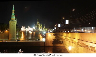 Moscow Kremlin night landscape