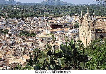 Panorama of Arta, Spain - Panoramic view of the city of Arta...