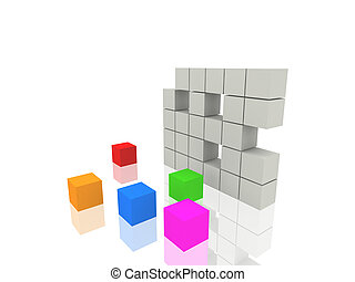cubos,  3D