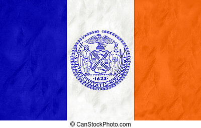 New York city flag - Flag of New York city in the U.S.A with...