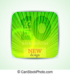 Vector green abstract poster. Eps10 illustration
