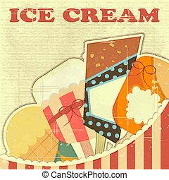 Ice Cream Retro color card