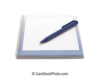 pen and notebook - The pen and notebook on a white...
