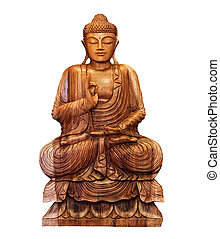Buddhist statue - buddhist statue of Buddha isolated on...