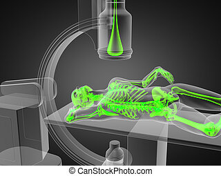 x-ray examination made in 3D graphics