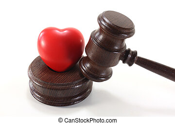 Medical law with heart and judges gavel