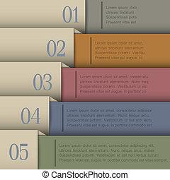 Design template in retro colors