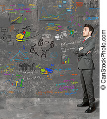 Businessman and new idea - Businessman think on new ideas