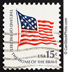 Postage stamp USA 1978 Fort McHenry Flag - UNITED STATES OF...