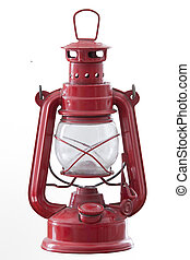 The Paraffin lamp isolated on white background