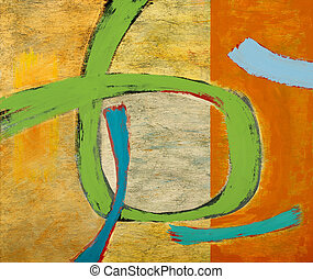 Green Loop - an abstract painting