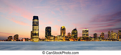 New Jersey - Downtown New Jersey Cityscape