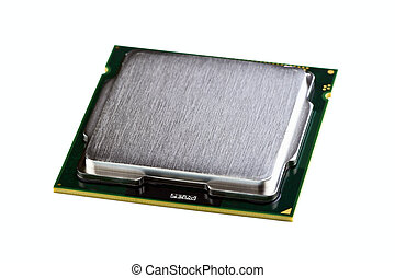 Processor isolated on a white background