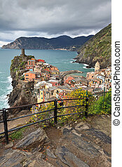 Vernazza, Itally - Vernazza fishermen village in Cinque...