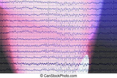 graph brain wave EEG isolated on white background