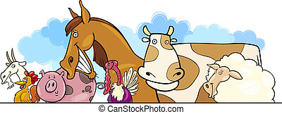 Cartoon Farm animals design - Cartoon illustration of Farm...