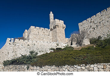 The tower of David - The David tower in the old city of...