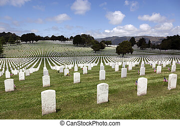 Headstones at United States National Cemetery