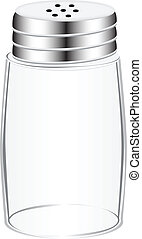 Empty salt shaker - An empty salt shaker with a screw cap...