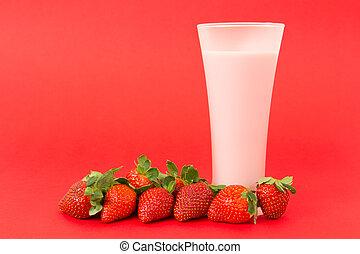 Strawberry yogurt drink - Fresh strawberry yogurt drink...