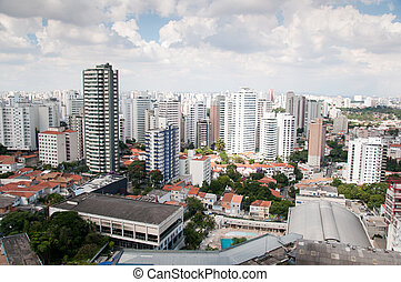 Aerial view of the center of sao paulo