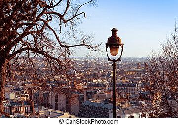 Montmartre - old-fashioned Montmartre,paris france