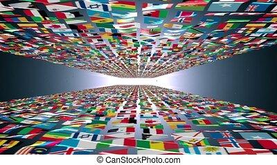 Carpet of World Flags, light bloom