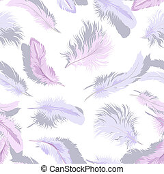 Light feathers seamless - Decorative seamless background...