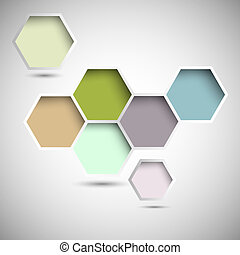 Abstract new design hexagons background Vector eps10