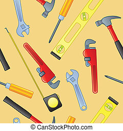 Seamless Home Improvement Tools - A seamless pattern of...