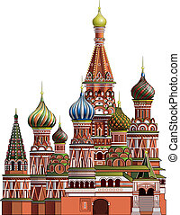 St. Basil's Cathedral near the Kremlin in Moscow