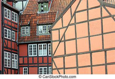 Fachwerk Houses - Historical fachwerk houses in Copenhagen...