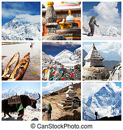 Himalayan - Nepal travel collage