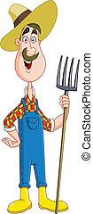 Farmer - Friendly farmer with pitchfork