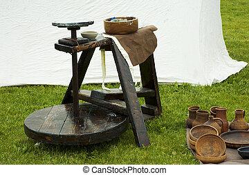 alfareros, rueda