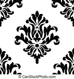 Vector Seamless Ornament Pattern. Swatch included. Easy to...