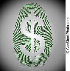 Dollar Finger Print